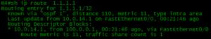 because of OSPF